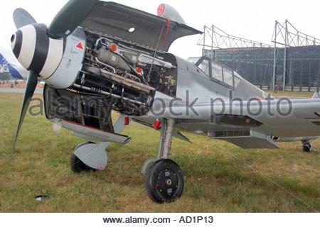 Zeltweg 2005 Airpower 05 airshow Austria German Luftwaffe Messerschmitt Me 109 G 4 - Stock Image
