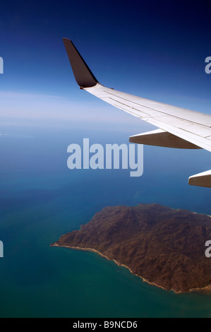 View through window of aircraft - Stock Image