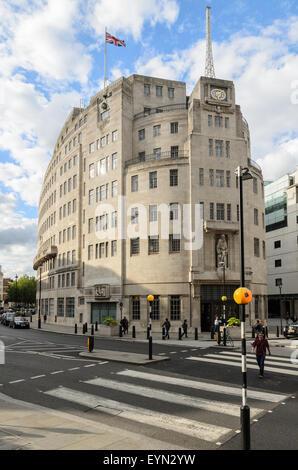 BBC Broadcasting House, Portland House, London, England, UK. - Stock Image