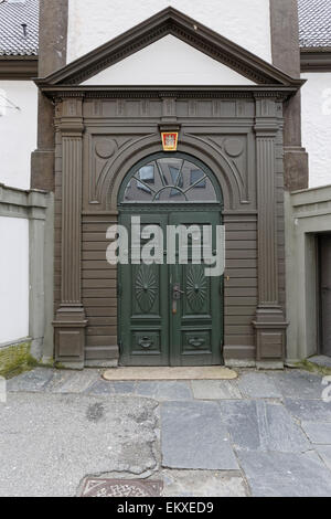 Side entrance to the old city hall, Bergen Norway. - Stock Image