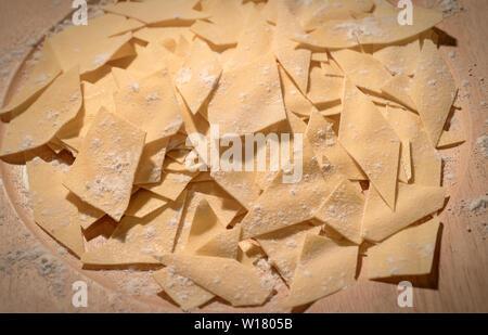 Italy Lazio Fregnacce pasta - Stock Image