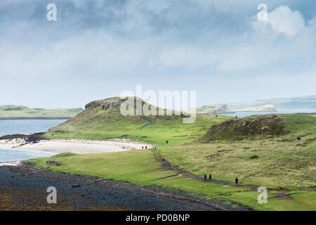 Coral Beach near Claigan on Isle of Skye, Scotland - Stock Image