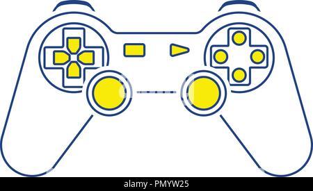 Gamepad  icon. Thin line design. Vector illustration. - Stock Image
