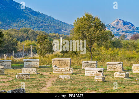 Ancient Graveyard, Ephesus, Turkey - Stock Image