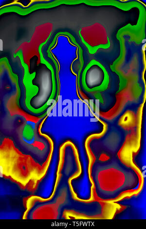 Modern Art Photography Abstract Concentration Creative Girl India 3/4/2007. - Stock Image