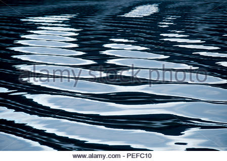 Reflections on the waters of the Inside Passage, Alaska. - Stock Image