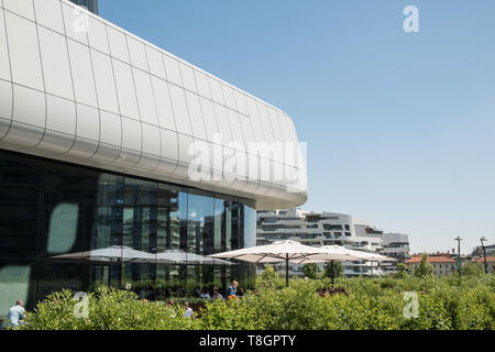 Citylife Shopping District exterior architecture, Milan, Italy - Stock Image