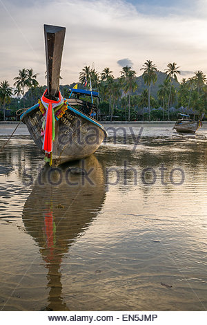 Long tail boats - Thailand - Stock Image