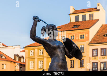A typical view in the old town in Warsaw Poland - Stock Image