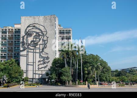 Che Guevara Steel Memorial in Plaza de la Revolucion (Revolution Square) in Havana, Cuba. - Stock Image