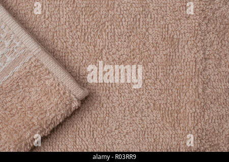 Clear brown towel texture background - Stock Image