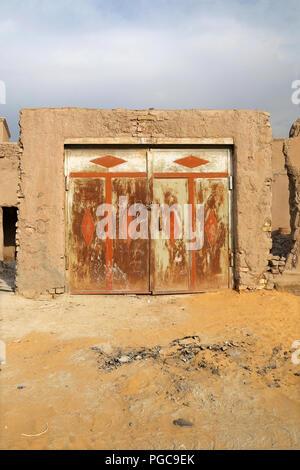 Door in Khiva, Uzbekistan - Stock Image