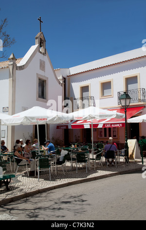 Portugal, Algarve, Alvor, Cafe - Stock Image