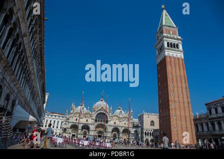 St. Mark's square in Venice - Piazza San Marco in Venice - Stock Image
