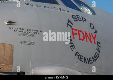 Art on B-52H 'We Remember', '11 SEP 01', FDNY, - Stock Image