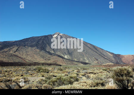 Teide peak seen by thousands of visitors every year in Tenerife, Canary Island - Stock Image