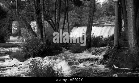 Otter Creek waterfall Middlebury Vermont USA - Stock Image