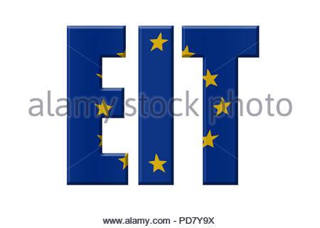 Digital Illustration - EU agency. EIT European Institute of Innovation and Technology , Europäisches Institut für Innovation und Technologie, - Stock Image