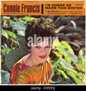 Connie Francis  45 rpm single picture sleeve circa 1960s - Stock Image