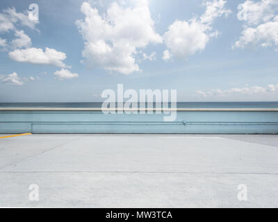 Empty parking lot on beach - Stock Image