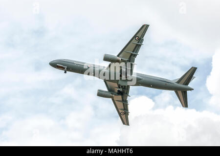 The RNZAF has a fleet of two Boeing 757 (B757) aircraft operated by No. 40 Squadron. The B757 is used for the deployment and transportation of personn - Stock Image