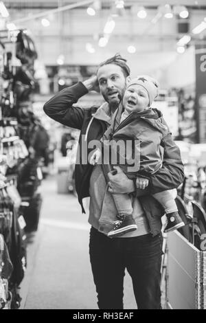 Father with baby boy - Stock Image