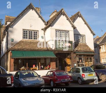 The Whole Hog bar and restaurant, Malmesbury, Wiltshire, England, UK - Stock Image