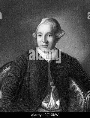 Joseph Warren (1741-1775) on engraving from 1835. American doctor who played a leading role in American Revolution. - Stock Image