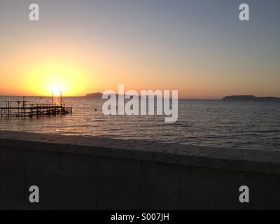 Sunset. Egadi Islands - Stock Image