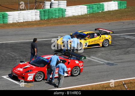 TV Press Working, GT3 Brazilian Racing Cup, Nelson Piquet, Autodrome, Brasilia, Brazil, South America - Stock Image