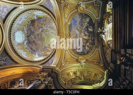 Dome of the Chapel, Royal Palace of Madrid, Spain - Stock Image