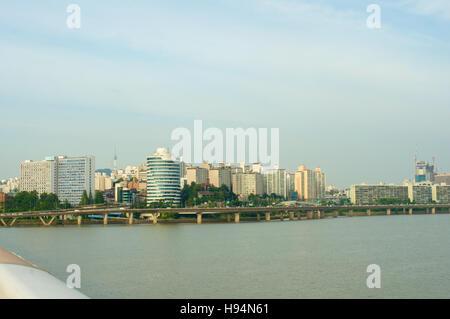 Hangang river in Seoul in summer in Korea - Stock Image