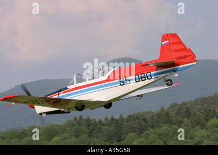 Postojna Air Show, Zlin 526 F - Stock Image