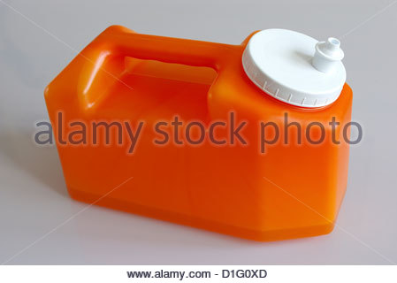 24HR URINE COLLECTION BOTTLE - Stock Image