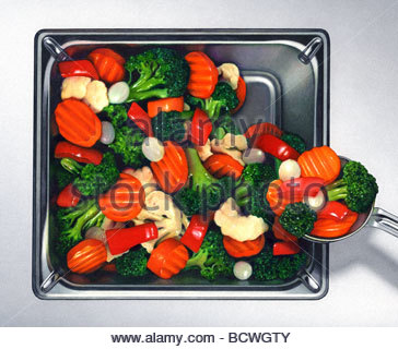 Vegetable Tray - Stock Image