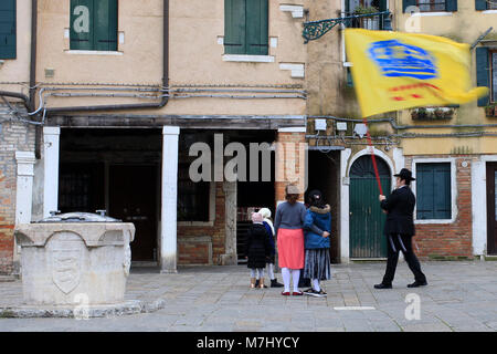 Venice, Italy. 10th, Mar 2018. A member and Childs the Jewish Community of Venice celebrated after ceremony the - Stock Image