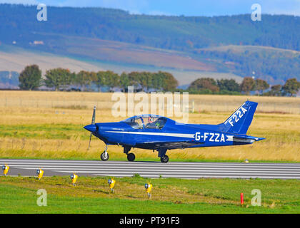 A general Avia F22A on the runway at Inverness Airport having flown in from Welshpool airfield in Montgomeryshire, Wales. - Stock Image