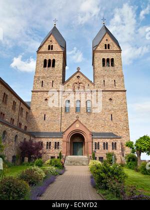 New Abbey of Saint Hildegard of Bingen, above Rudesheim, Upper Middle Rhine Valley World Heritage Site, Germany, - Stock Image