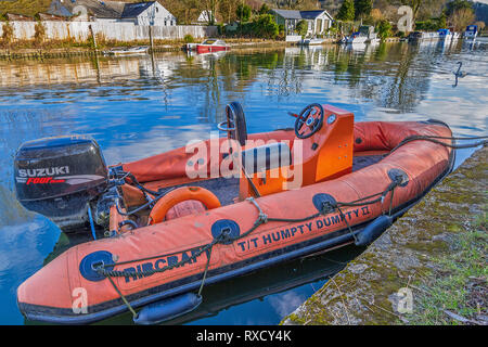 Inflatable Boat River Thames Oxfordshire - Stock Image