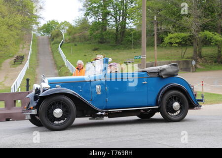 Austin 16/6 Tourer (1934), British Marques Day, 28 April 2019, Brooklands Museum, Weybridge, Surrey, England, Great Britain, UK, Europe - Stock Image