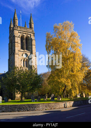 All Saints church Helmsley, North Yorkshire England in autumn - Stock Image