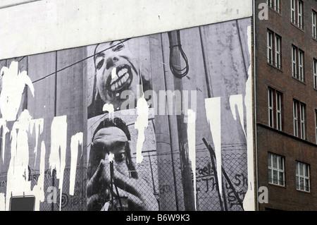 graffiti berlin art photographic portraits germany deutschland travel tourism mitte near friedricstrasse building - Stock Image