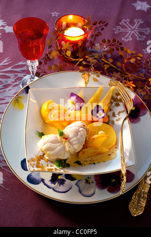 Monkfish Blanquette with vegetables - Stock Image