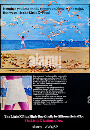 1960s Nova Magazine October 1968 Advertisement for Silhouette Little X Girdle FOR EDITORIAL USE ONLY - Stock Image