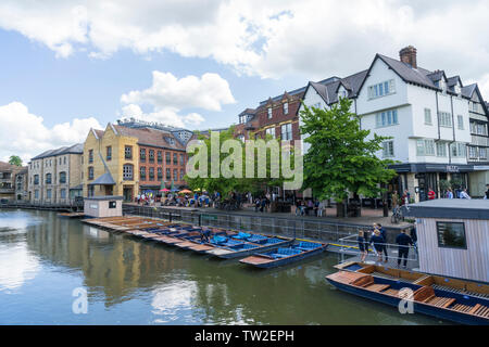 Quay Side Cambridge 2019 - Stock Image