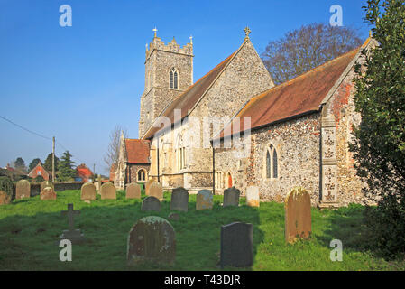 A view of the Church of St Andrew at Wickhampton, Norfolk, England, United Kingdom, Europe. - Stock Image