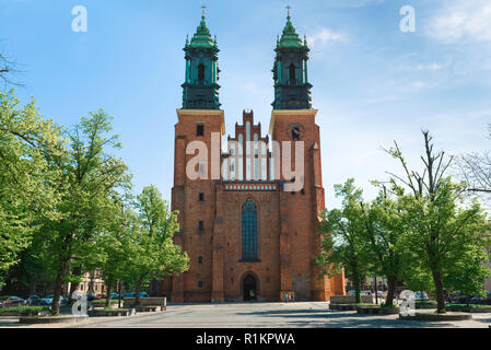 Ostrow Tumski Poznan, view of the west end of Poznan Cathedral on Tumski Ostrow (Cathedral Island), Poland. - Stock Image