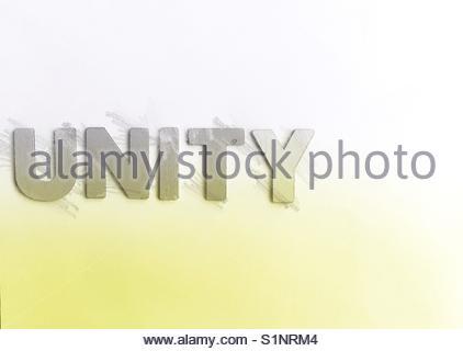 unity (word) - Stock Image