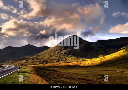 Landscape Cluanie Lodge Highlands of Scotland - Stock Image