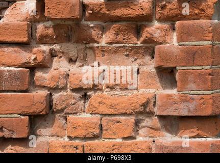 Eroded brick texture. - Stock Image